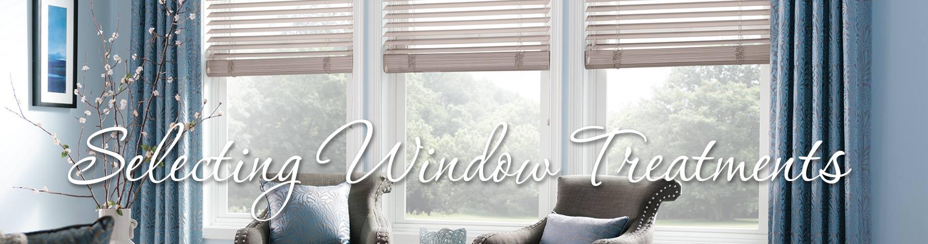 Selecting window treatments